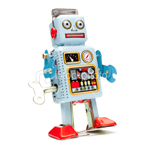 vintage toy tin robot