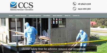Image showing CCS Asbestos home page