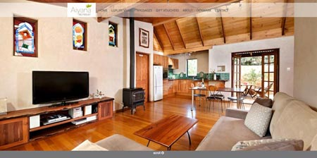 Image showing Aiyana Retreat home page
