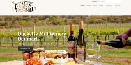 Image showing Ducketts Mill home page