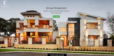 Image showing Exclusive Residence home page